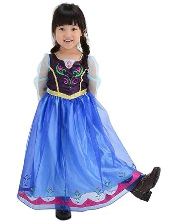 ディズニー アナと雪の女王 アナ おしゃれドレス キッズコスチューム 女の子 100cm,110cm