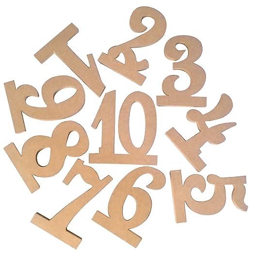 skoqjFQSen 1-10 - Cartel de Madera con números Huecos para ...