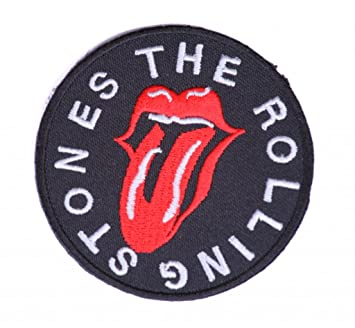 Parches Rolling Stones Parches bordados rock parches rock parches para ropa parche Rolling Stones 7cm: Amazon.es: Hogar