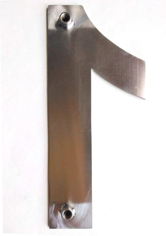 nanly N/úmero de casa moderna-15.3Cent/ímetros//6 pulgadas-Acero inoxidable F/ácil de instalar y hecho de acero inoxidable s/ólido 304(N/úmero 4) Apariencia flotante