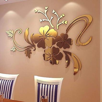 Decoracion de muebles, BaZhaHei, Espejo 3D Arte Floral ...
