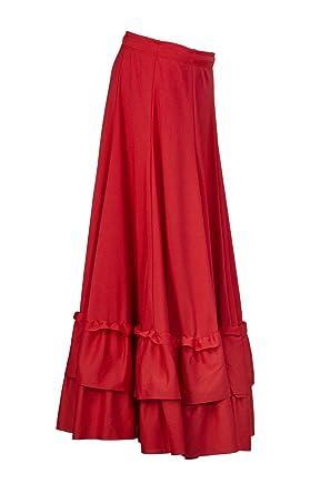Falda de flamenco de niña, 9100 C: Amazon.es: Ropa y accesorios