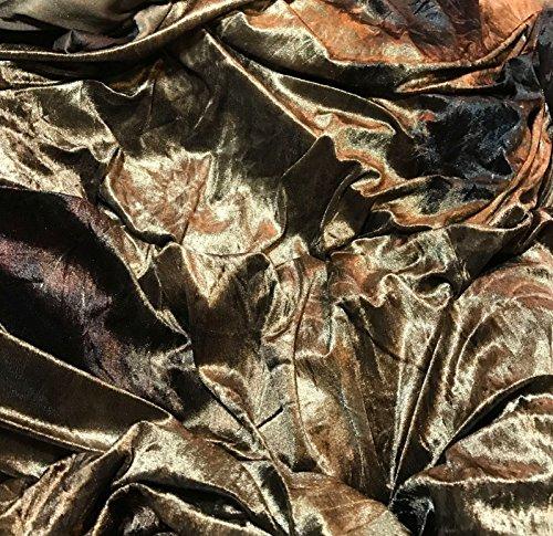 Golden Brown - Poly Velvet (Golden Brown Velvet Fabric)