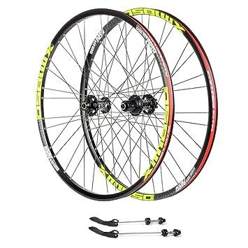 """ZNND 26"""" Bicicleta De Montaña Ruedas Pared Doble Lanzamiento Rápido MTB Borde Rodamientos Sellados Freno"""