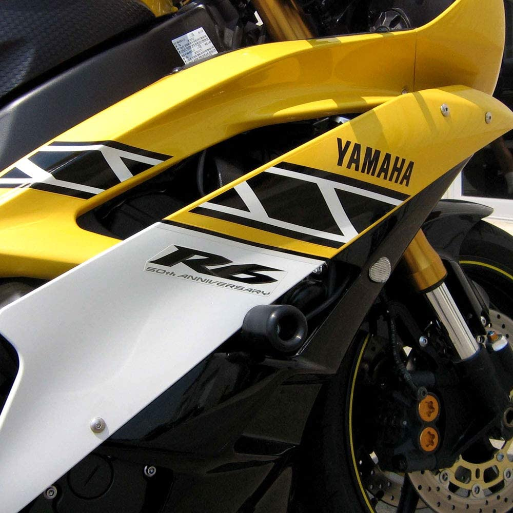 MADE IN THE USA Shogun 2006 2007 Yamaha YZF-R6 YZF R6 Black No Cut Frame Sliders 750-6329