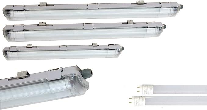LED Feuchtraumleuchte 120cm 150cm Wannenleuchte Röhre Keller Garage Lampe IP65