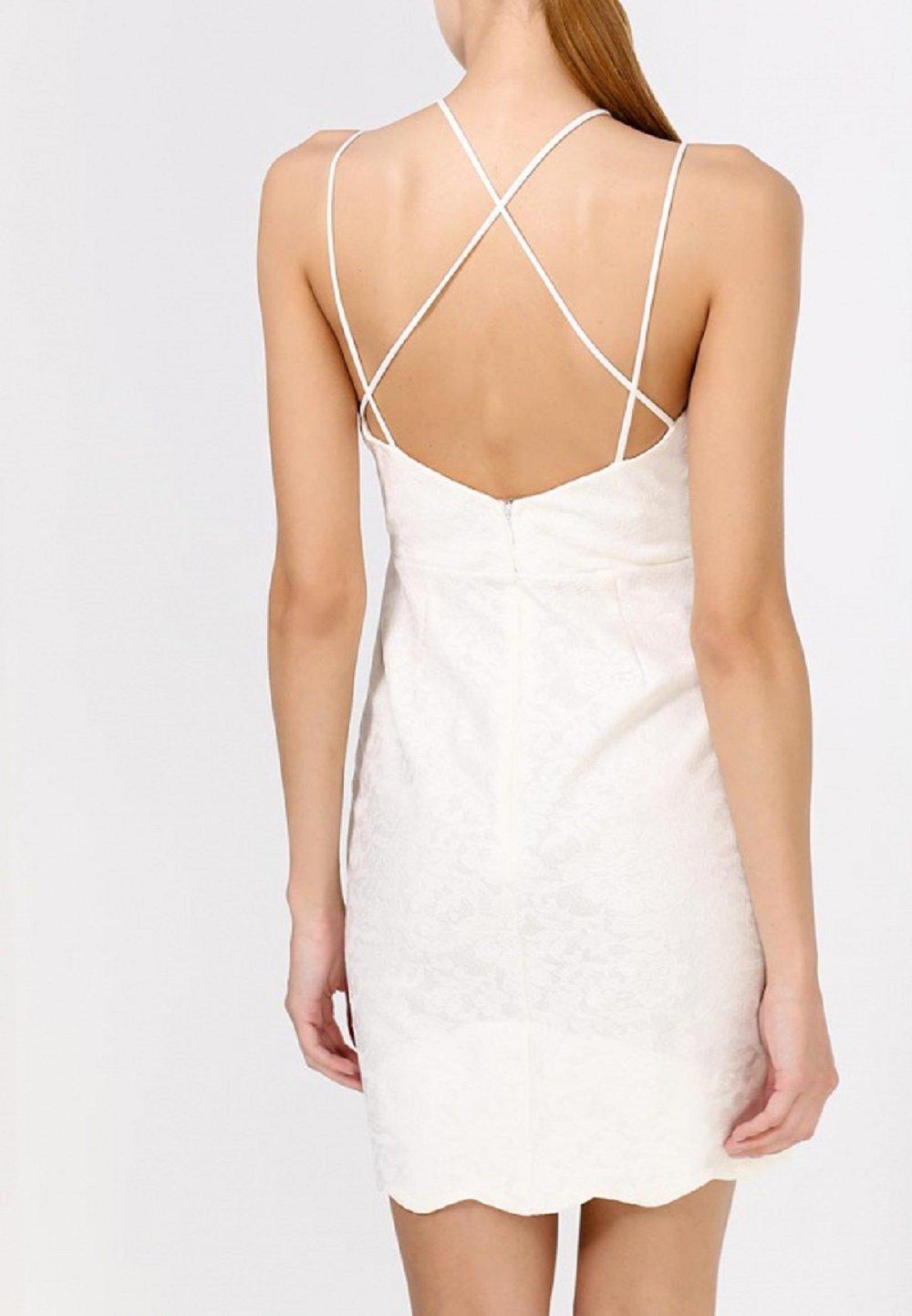 TOPSHOP Petite Scallop Lace Bodycon Dress White Cream Bridal Summer Party UK 14: Amazon.co.uk: Sports & Outdoors