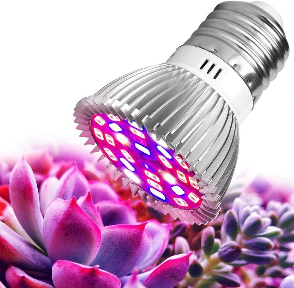 Lampara de cultivo led , Lámpara de bombilla de cultivo de espectro completo, 3 modos for cultivar carpas Verduras de invernadero Plantas hidropónicas de interior, Base E26 E27, CA 85-265V
