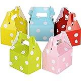 60pcs(7*5*5cm) Cajas de Caramelo Bombones Dulces Chocolate Regalos Recuerdos para Invitados de Boda Bautizo Fiesta Cumpleaños Puntos 5 colores