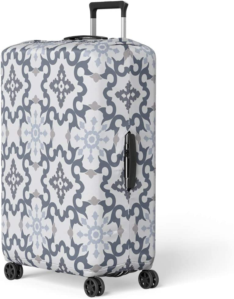 Pinbeam Luggage Cover Pink Pattern Sand Flowers Dollars and Seashells Sea Travel Suitcase Cover Protector Baggage Case Fits 18-22 inches