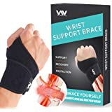 Wrist Brace for Carpal Tunnel, Adjustable Wrist Support Brace for Arthritis and Tendinitis, Wrist Compression Wrap for…