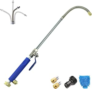 Deitybless Extendable Hydro Jet Washer High Pressure Power Washer Wand Water Hose with Nozzle Auto Watering Sprayer Flexible Garden Watering Sprayer for Car Wash and Window Washing