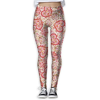XDDFRTFF Women's Full-Length Yoga Pants 3D Printed Color Love Workout Leggings