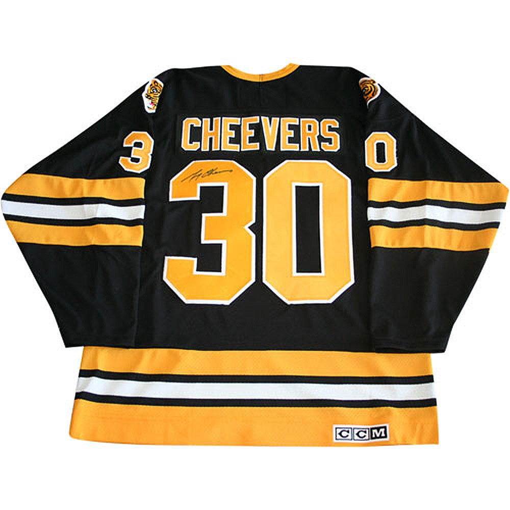 Gerry Cheevers Autographed Black Boston Bruins Jersey at Amazon s Sports  Collectibles Store 105598f03