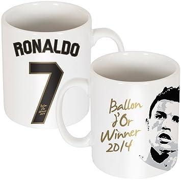Blanc UniqueSports Ballon Taille Ronaldo D'or Mug lJ31FcTK