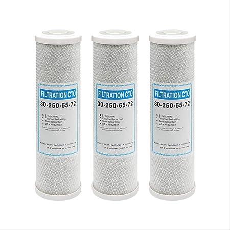 ATXLYT purificador de agua Cto filtro de carbón activado comprimido 10 pulgadas (3 piezas), purificador de agua Cto Plug-in filtro de carbón activado en línea Pure Water Filter Element: Amazon.es: Hogar
