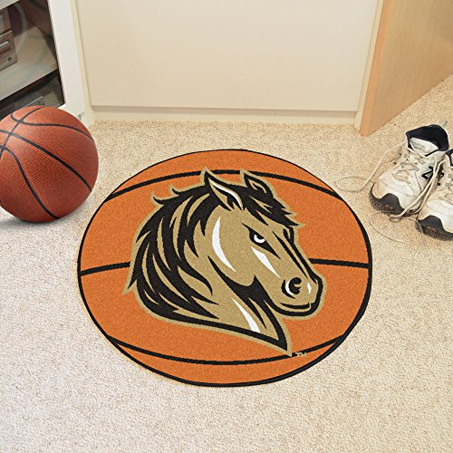 FANMATS NCAA Southwest Minnesota State University Mustangs Nylon Face Basketball Rug ()
