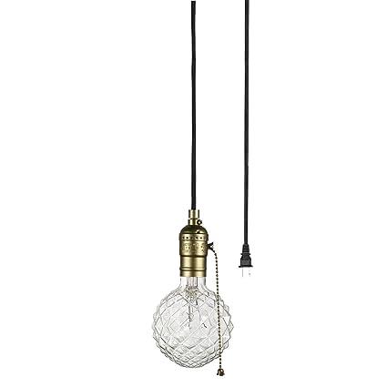 light bulb pendant industrial globe electric edison 1light plugin mini pendant matte bronze finish
