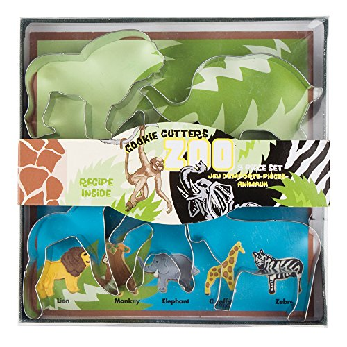 - Fox Run 36008 Zoo Animals Cookie Cutter Set Zoo Animals