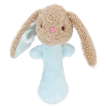 Isuper Peluche Animados,Felpa Juquete,Sonajeros con Sonidos diseño de Lindo Conejo con Campanas