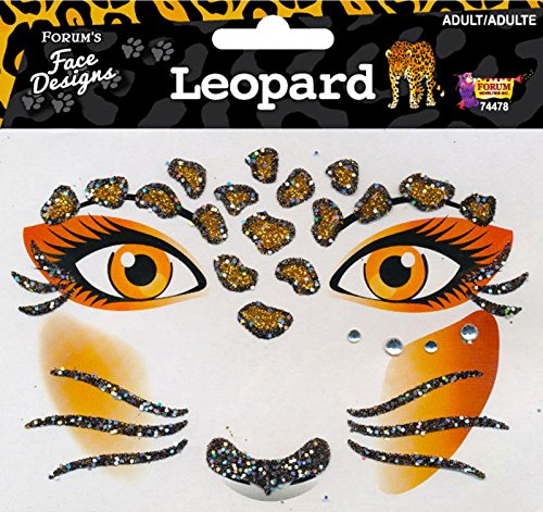 Forum Novelties Women's Face Designs-Leopard, Multi, (Leopard Costume Face Paint)
