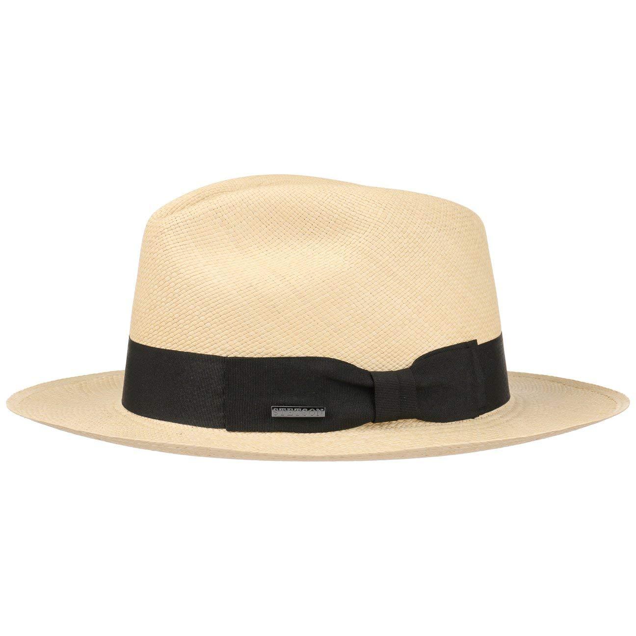 Stetson Cappello Panama Valmora Fedora Estivo da Sole Cappelli Spiaggia ea980a394869