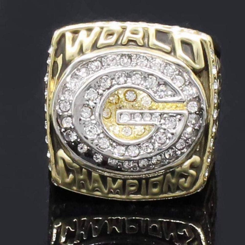 CWHao-Rings Collection de Fans de Sport Bagues de Champion Bagues Comm/émoratives pour Hommes Collections Haut de Gamme des Fans Bagues en Alliage Accessoires pour Hommes Accessoires Vintage Or,