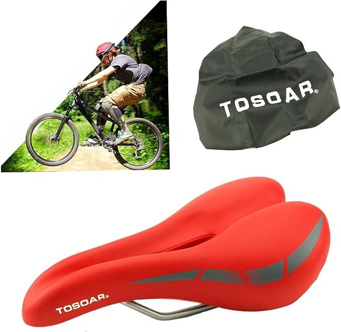 TOSOAR Sillines de Bicicleta MTB Carretera Antiprostático Asiento ...