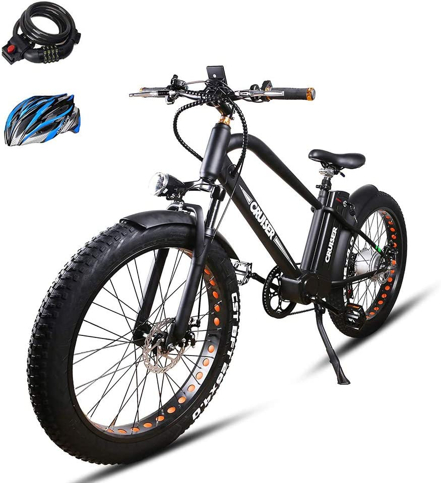 BRIGHT GG ebike with Removable 36V 10AH 48V 12AH Lithium Battery, Lock and Charger 22 26