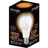 スタイルド LED電球 口金直径26mm 一般電球 全方向タイプ 6.5W 485lm (電球色相当・電球40W相当) LLDAL7O1P1