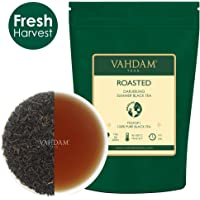 VAHDAM, Gerösteter Darjeeling-Tee (50 Tassen) | Vollmundiger & aromatischer Darjeeling Tee Loose Leaf | 100% Pure Second Flush Schwarzer Teeblatt | Brauen Sie als heißen Tee,Eistee oder Latte | 100g