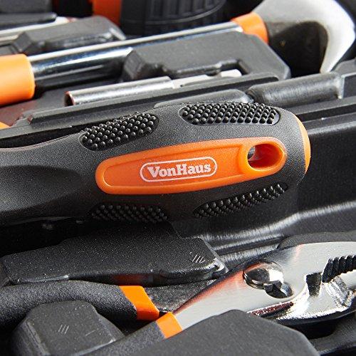 VonHaus Orange 39 Piece General Tool Set - Home Hand Tool Kit with Plastic Toolbox Storage Case by VonHaus (Image #5)