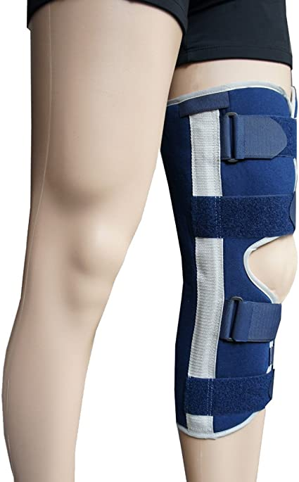 1 Piece Adjustable Knee Immobilizer Brace Support for Adult Recovery Knee Fractures,Instability,Arthritis,Women Men by BenKen for Left Right Leg