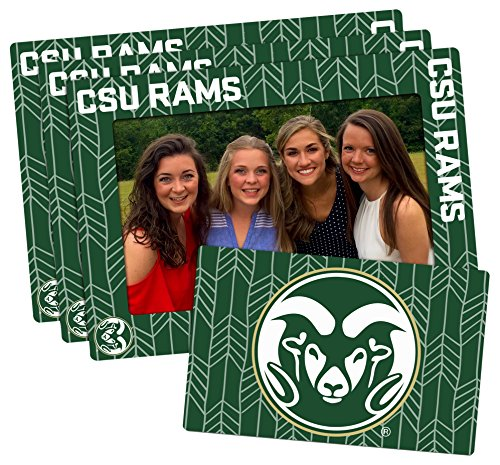 Worthy Promotional NCAA Colorado State Rams 4-inch by 6-inch Magnetic Frame Plus Bonus Magnet, Green, 3 Pack