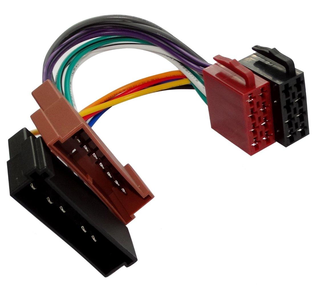 Aerzetix –  AA3 ISO CONVERTISSEUR –  Adaptateur Connecteur de câ ble –  Câ ble adaptateur Radio Radio Câ ble ISO Connexion 3800946211587
