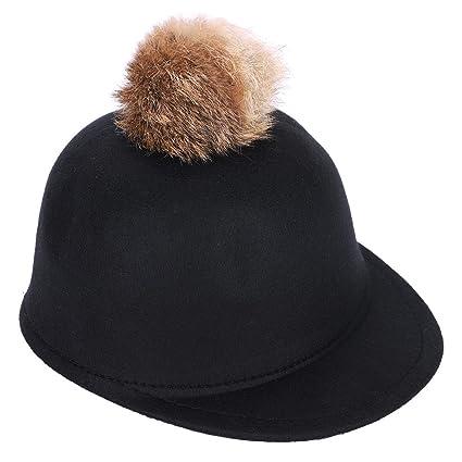 58de9e426a027 IBLUELOVER Sombrero niño niño niña Gorra de béisbol Invierno otoño  Transpirable Caliente Boina de Lana Vintage
