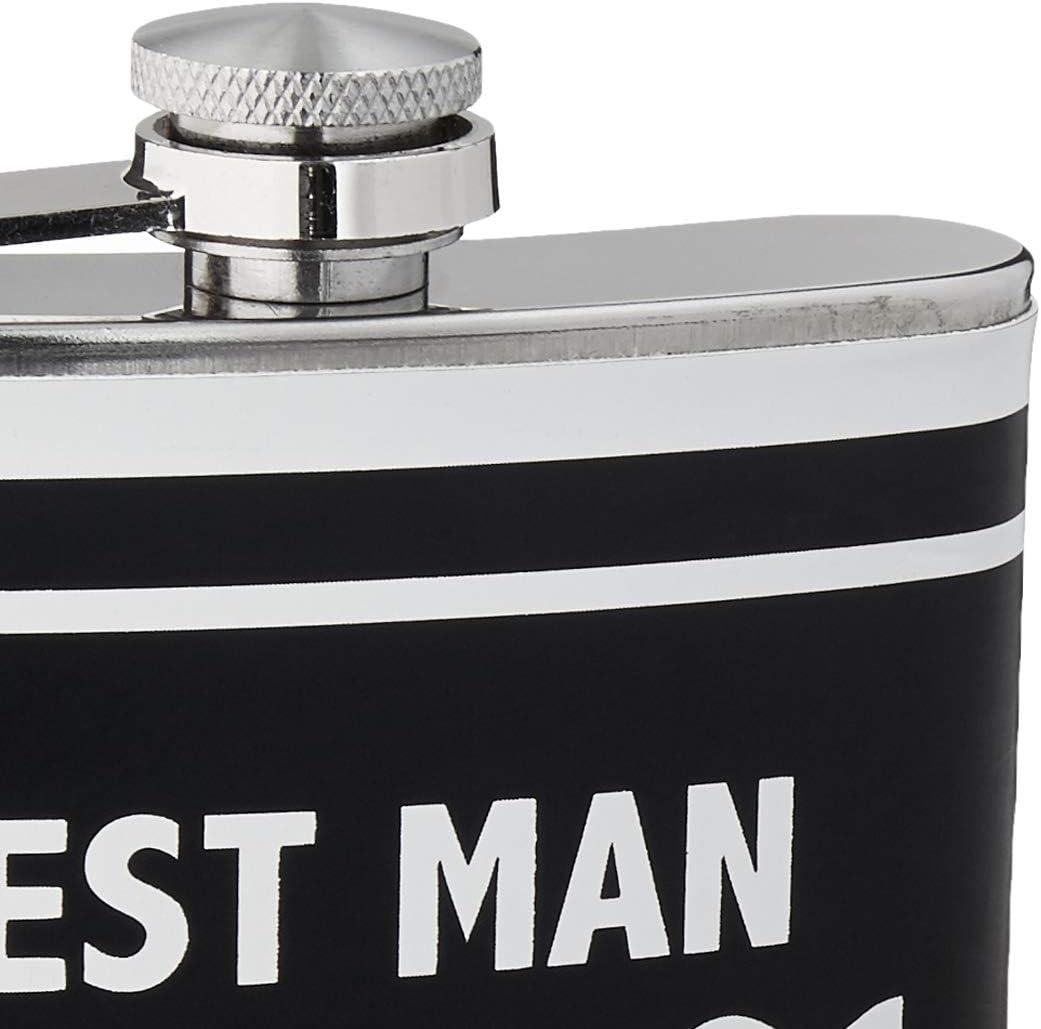 6-Ounces Boston Warehouse Stainless Steel Pocket Flask Best Man