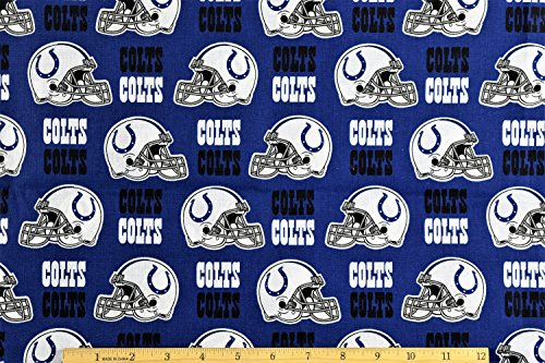 (Indianapolis Colts Fabric NFL Football Fabric in Navy Blue 58