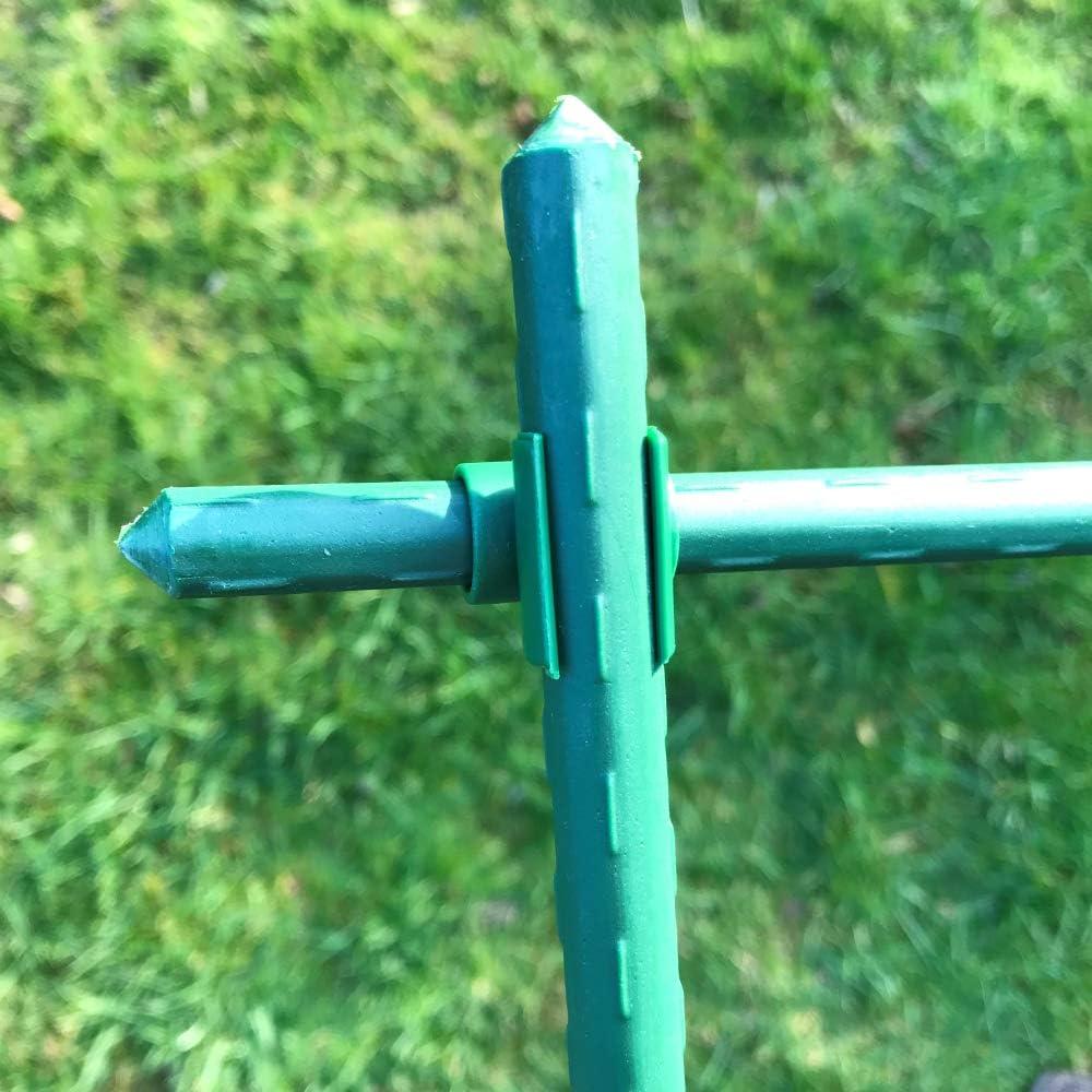 Rankst/äbe und Tomatenstangen 90/° Verbindungsrohre f/ür Pflanzst/äbe /ø 11mm, 20 St/ück GardenSkill Pflanzstabverbinder