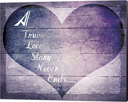 A True Love Story Never Ends by LightBoxJournal Canvas Art Wall Picture, Museum Wrapped with Black Sides, 20 x 16 inches -