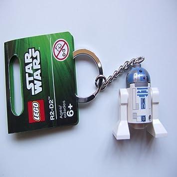 LEGO Star Wars: R2-D2 (Gray Cabeza) Llavero: Amazon.es ...