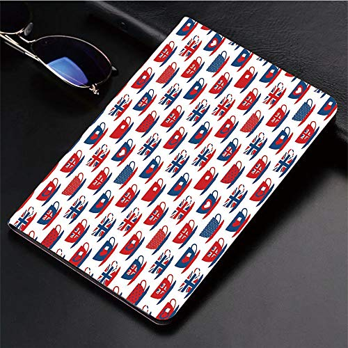 Compatible with iPad 2/3/4 Case,Teacup Forms Patterned Union Jack Hearts Flags,Slim Anti-Scratch Shell Auto Sleep/Wake,3D Printed Protection Apple iPad 9.7