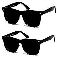 Y&S UV Protection Wayfarer Unisex Sunglasses(Black) - Combo Pack