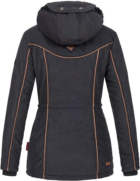 Marikoo B610 warme Mantel Damen Winter Winterjacke Parka Teddyfell Jacke sQoCthBdrx