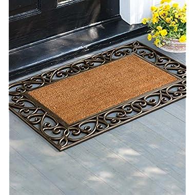 Filigree Coco Fiber Doormat, 24'' x 36''