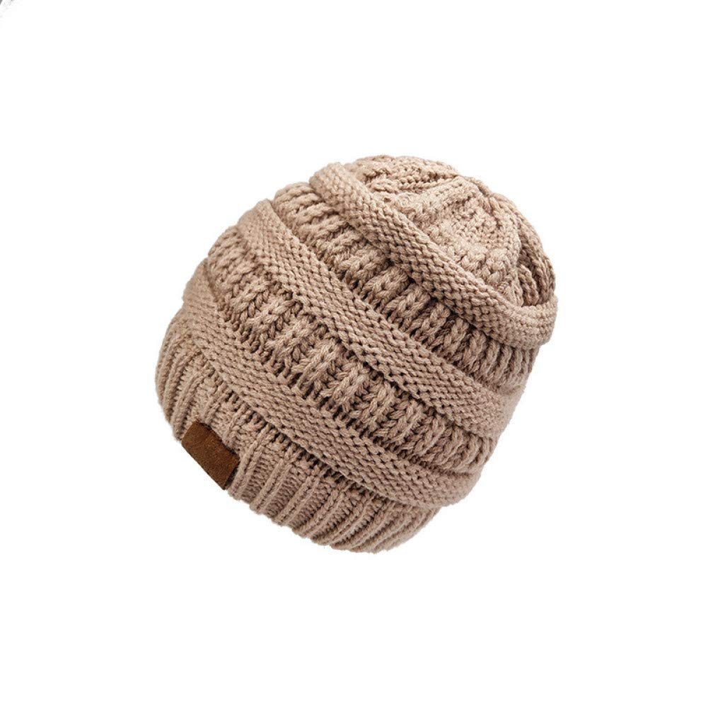 ZSGCHAT Knitted Hats For Women Autumn And Winter Caps Knitted Ponytail Caps WomenS Wooly Caps