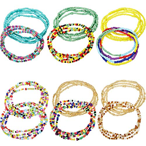 - Norme Summer Jewelry Waist Bead Set, Colorful Waist Bead, Belly Bead, African Waist Bead, Body Chain, Beaded Belly Chain, Bikini Jewelry for Woman Girl (12 Pieces Style 3)