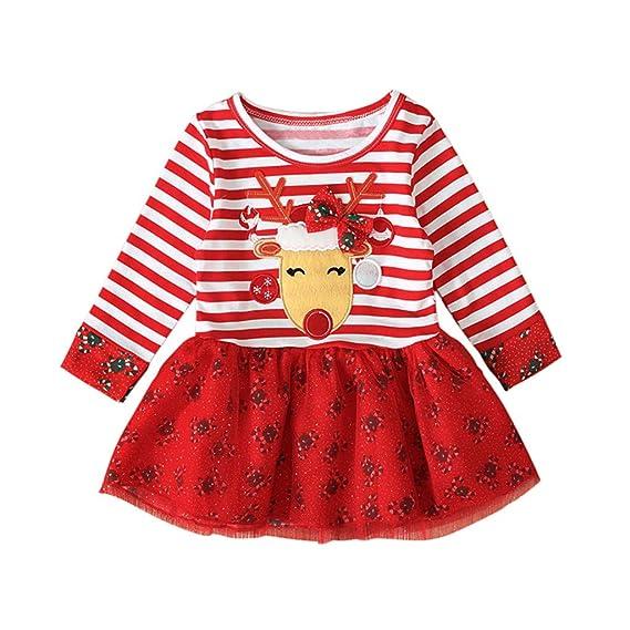 MYONA Vestido para Niña de Navidad, Vestido de Niña para ...