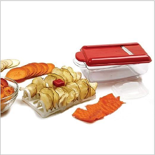 melumber Microondas patatas chips Maker y patatas Rallador ...