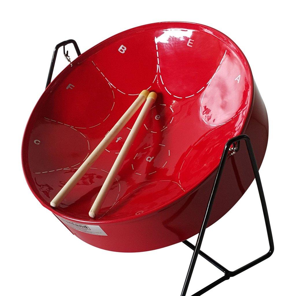 Panland Trinidad & Tobago - Red Minipan Steelpan MICP04R - Steel Drum